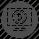 app, bitcoin, bitcoins, browser, pc, web icon