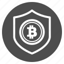 bitcoin, bitcoins, guarantee, safe, security icon