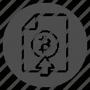 bitcoin, bitcoins, deposit, document, up, upload icon
