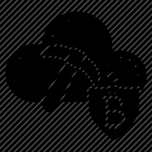 axe, cloud, coin, database, server icon