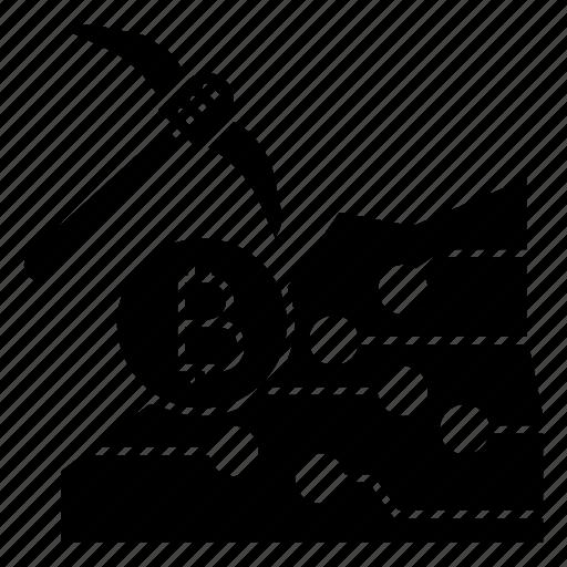 axe, coin, dig, hatchet, mining icon