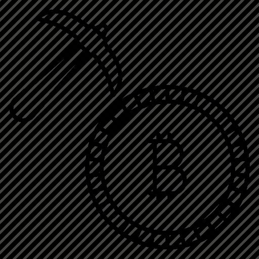 axe, coin, digitalmoney, fix, tool icon