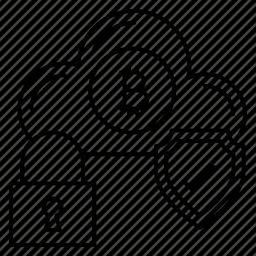 cloud, digitalmoney, lock, server, sheld icon