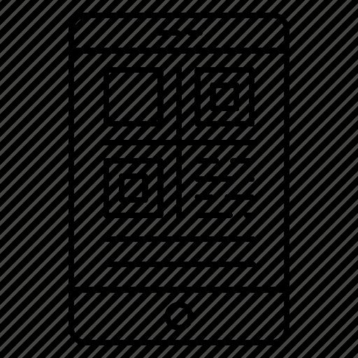 diagram, gadget, mobile, phone, qrcode icon