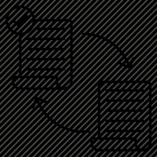 document, exchange, file, money, reports icon