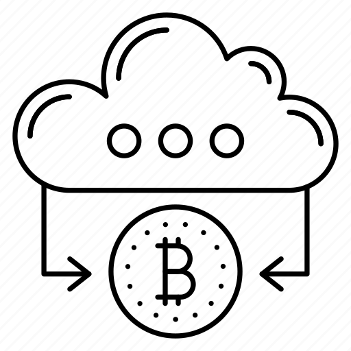 cloud, coin, connected, database, server icon
