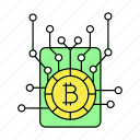 bitcoin, hardware, network, technology icon