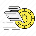 bitcoin, blockchain, digital currency, transfer icon
