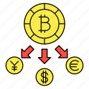 bitcoin, crypto, currency, dollar icon