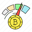 bitcoin, cryptocurrency, digital currency, performance icon