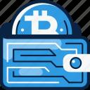 bitcoin, crypto, wallet icon