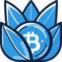 benefit, benefits, bitcoin, develop, grow icon