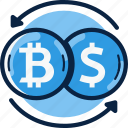 bitcoin, currency, dollar, exchange, money icon