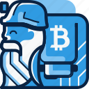 bit, bitcoin, crypto, miner, mining icon