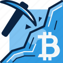 bitcoin, currency, mine, mining icon