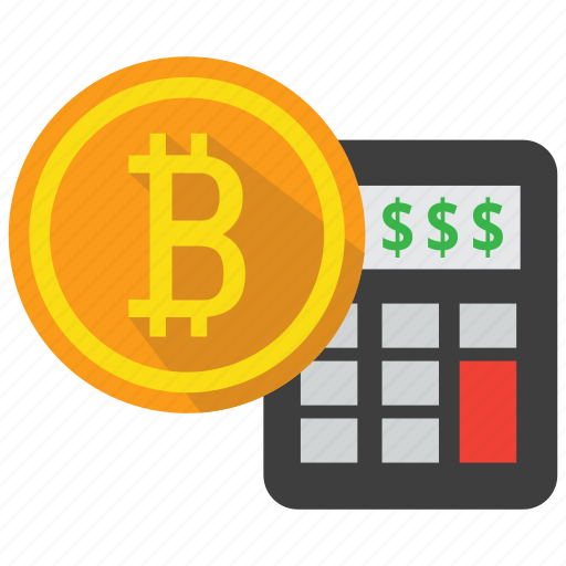 bitcoin, calculator, coin, cryptocurrency, digital money, investment icon