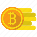 bitcoin, coin, crypto, cryptocurrency, currency, digital money icon