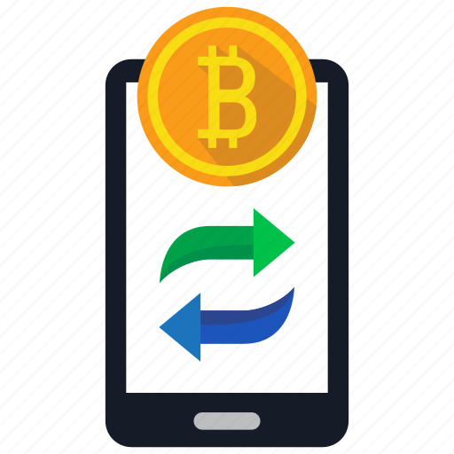 bitcoin, coin, cryptocurrency, digital money, mobile, trade, trading icon