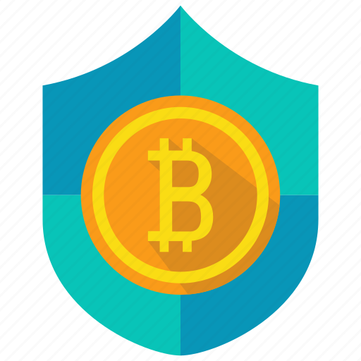 bitcoin, coin, cryptocurrency, payment, protection, shield icon