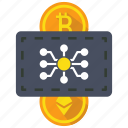 blockchain, coin, crypto, cryptocurrency, currency, digital money icon