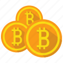 bitcoin, coin, cryptocurrency, digital, money icon