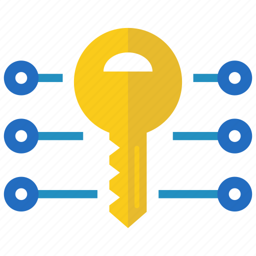 blockchain, coin, crypto, cryptocurrency, currency, key, password icon