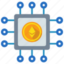 blockchain, coin, crypto, cryptocurrency, currency, digital money, ethereum icon