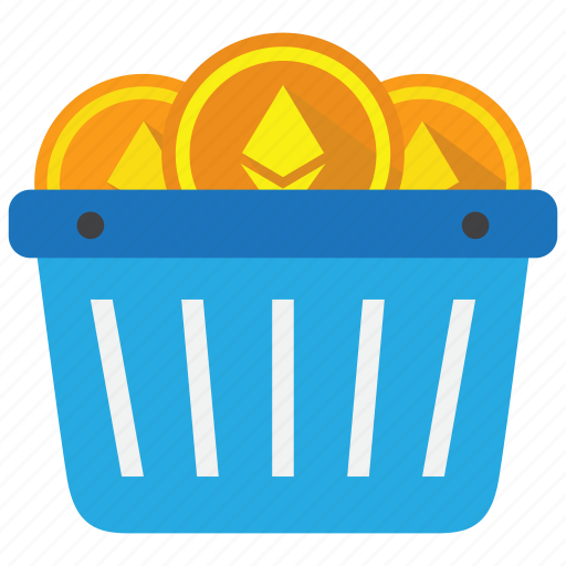 buy, cart, coin, cryptocurrency, currency, ethereum, trading icon