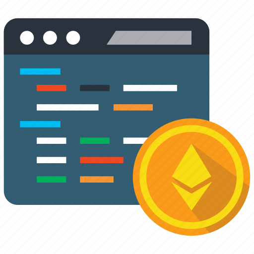 blockchain, coding, coin, cryptocurrency, ethereum, programming icon