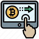 bitcoin, business, cryptocurrency, finance, method, money, payment icon
