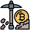 bitcoin, business, currency, digital, finance, mining, money icon