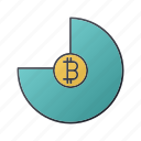 bitcoin, business, chart, diagram, report, seo, statistics icon