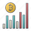 bitcoin, business, chart, diagram, report, seo, statistics icon