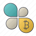 bitcoin, business, chart, flower, report, seo, statistics icon