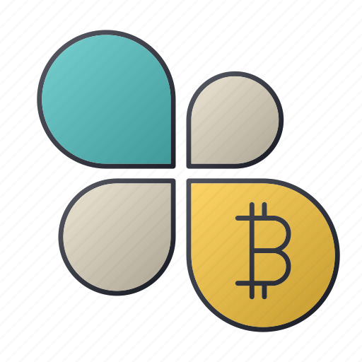 bitcoin, business, chart, flower, report, seo, statistics icon