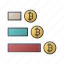 bitcoin, business, diagram, money, report, seo, statistics icon