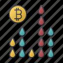 bitcoin, business, chart, finance, oil, seo, statistics icon