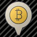 bank, bitcoin, chart, location, pin, seo, statistics icon