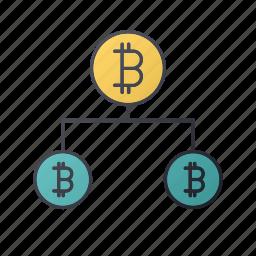 bitcoin, business, money, report, seo, share, statistics icon