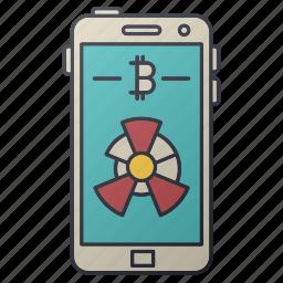 bitcoin, business, chart, diagram, seo, smartphone, statistics icon