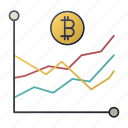 bitcoin, business, chart, report, seo, statistics icon