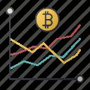bitcoin, business, chart, report, seo, statistics icon
