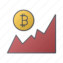 bitcoin, business, chart, graph, report, seo, statistics icon
