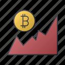 bitcoin, business, chart, graph, report, seo, statistics icon