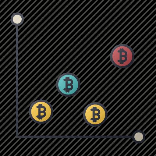 bitcoin, chart, money, report, seo, signgraph, statistics icon