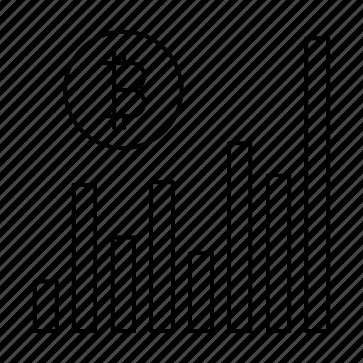 bitcoin, business, chart, diagram, report, statistics icon