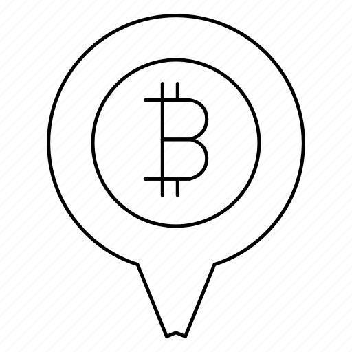 bank, bitcoin, business, chart, location, pin icon