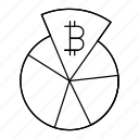 bitcoin, business, chart, money, report, statistics icon