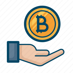 bitcoin, currency, donation, finance, handover, investment, money icon