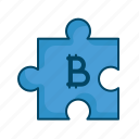 bitcoin, block, investment, planning, puzzle, strategy icon